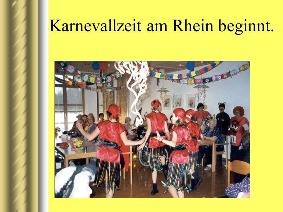Karnevallzeit am Rhein beginnt.