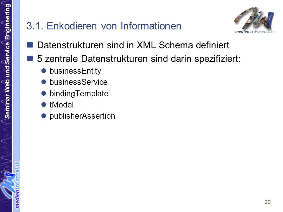 Seminar Web und Service Engineering 20 3.1.