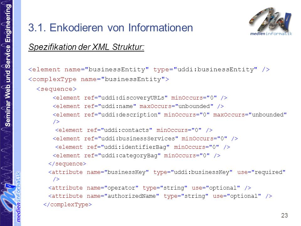 Seminar Web und Service Engineering 23 3.1.