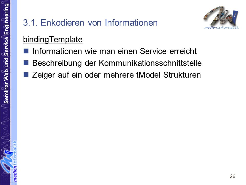 Seminar Web und Service Engineering 26 3.1.