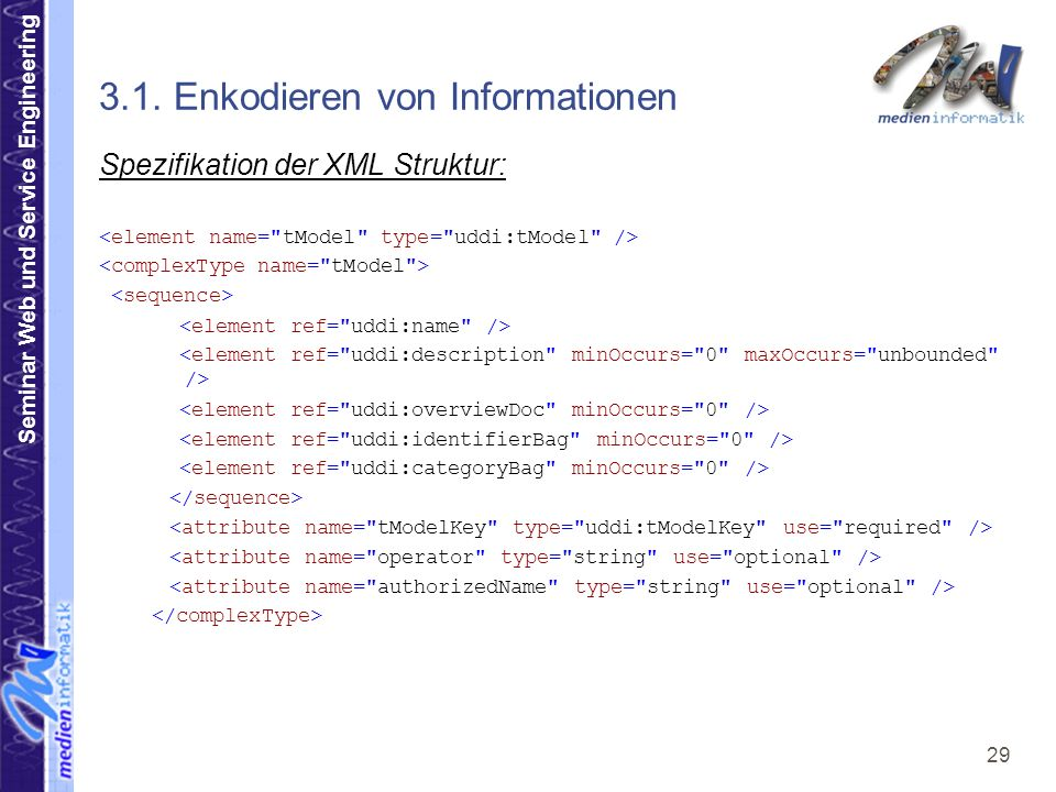 Seminar Web und Service Engineering 29 3.1.