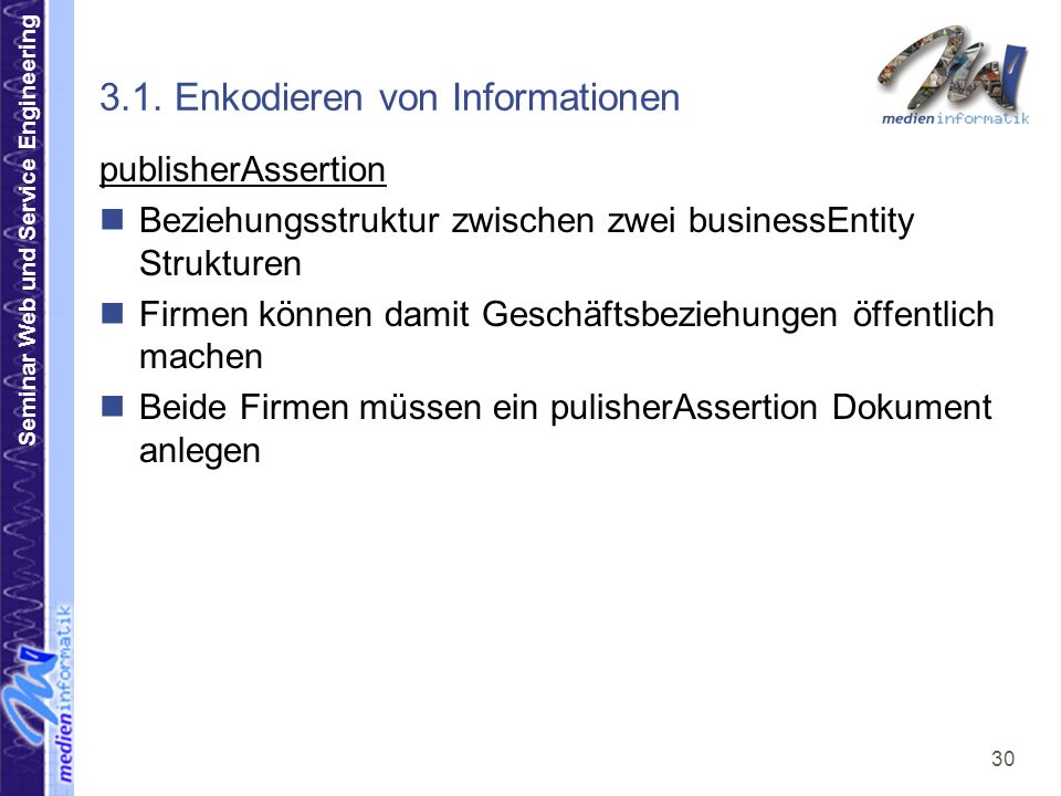 Seminar Web und Service Engineering 30 3.1.