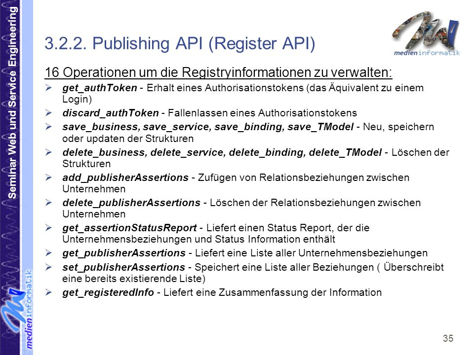 Seminar Web und Service Engineering 35 3.2.2.