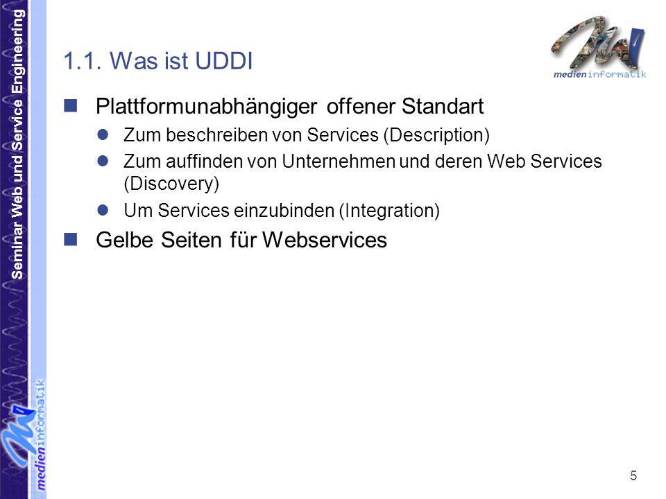 Seminar Web und Service Engineering 6 1.2.