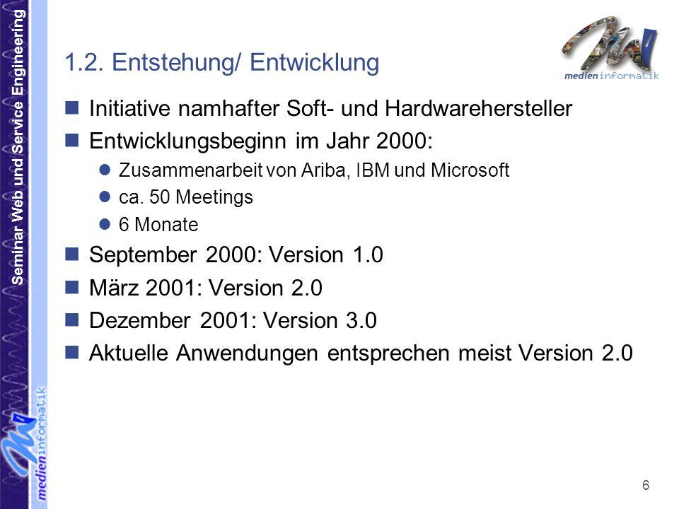 Seminar Web und Service Engineering 7 1.2.