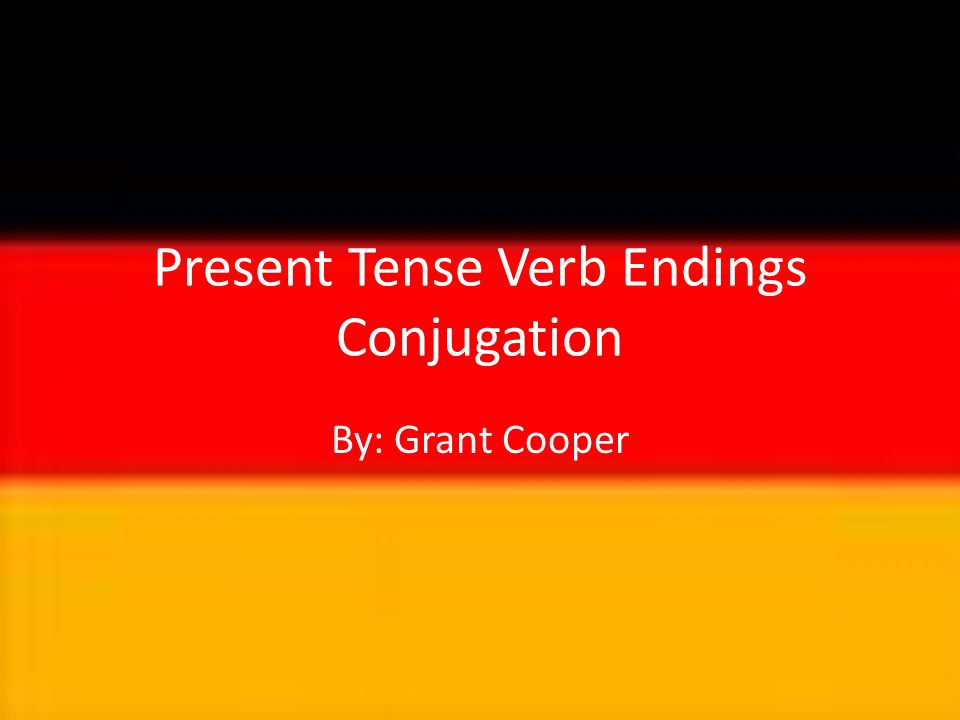 Was ist ein Verbende.A verb ending is when you conjugate a verb to match the appropriate noun.