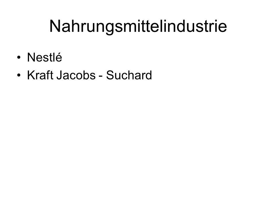 Nahrungsmittelindustrie Nestlé Kraft Jacobs - Suchard