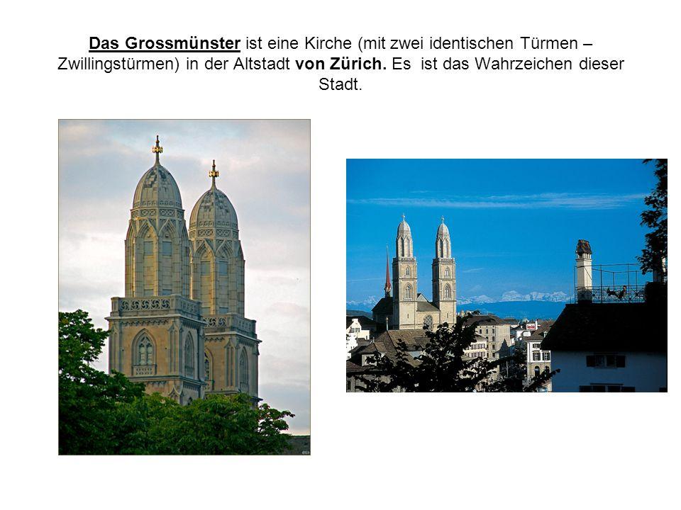 Das Grossmünster ist eine Kirche (mit zwei identischen Türmen – Zwillingstürmen) in der Altstadt von Zürich. Es ist das Wahrzeichen dieser Stadt.