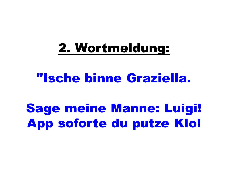 2. Wortmeldung: