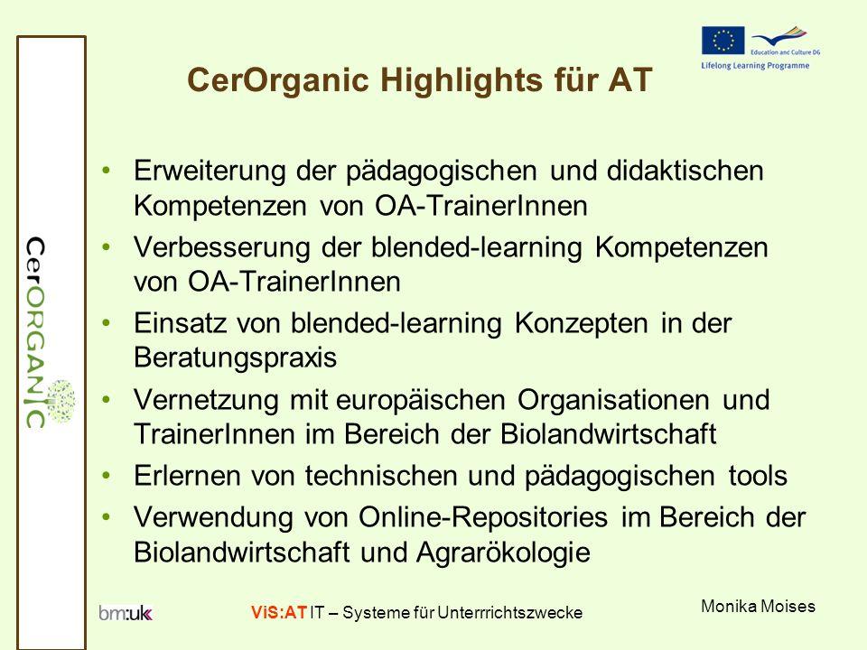 ViS:AT IT – Systeme für Unterrrichtszwecke CerOrganic Summer School 22.-28.
