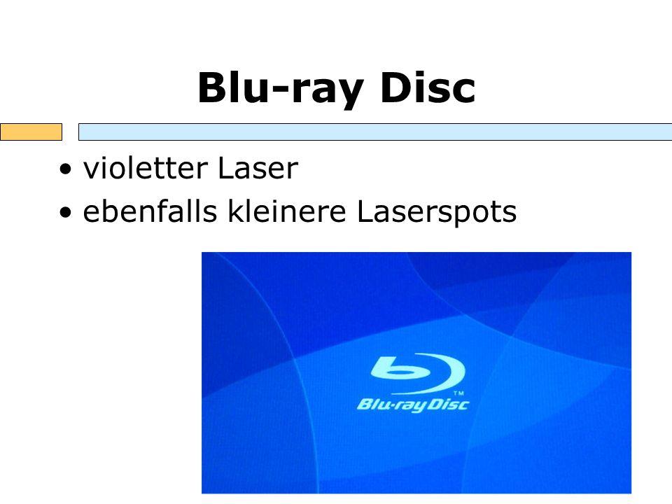 Blu-ray Disc violetter Laser ebenfalls kleinere Laserspots