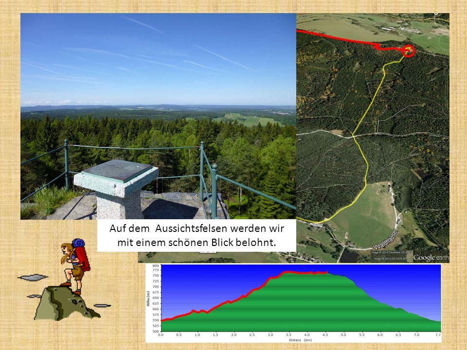 http://de.wikipedia.org/wiki/Vysok%C3%BD_k%C3%A1men_(Elstergebirge) wird auf dem Aussichtsfelsen mit 773,5 m der höchste Punkt unserer kurzen Wanderung erreicht.