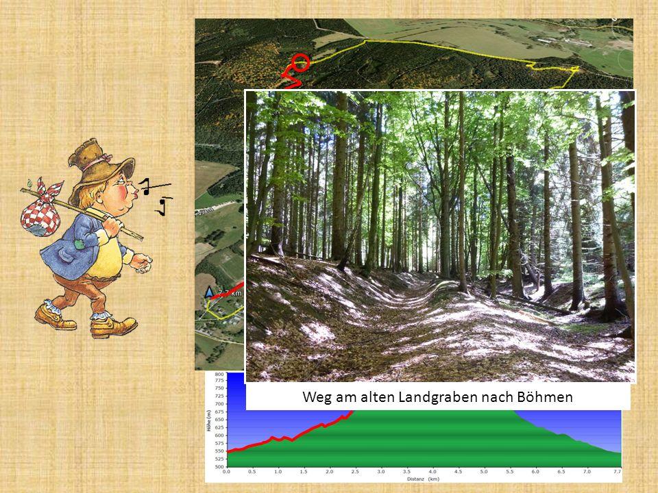 Weg am alten Landgraben nach Böhmen