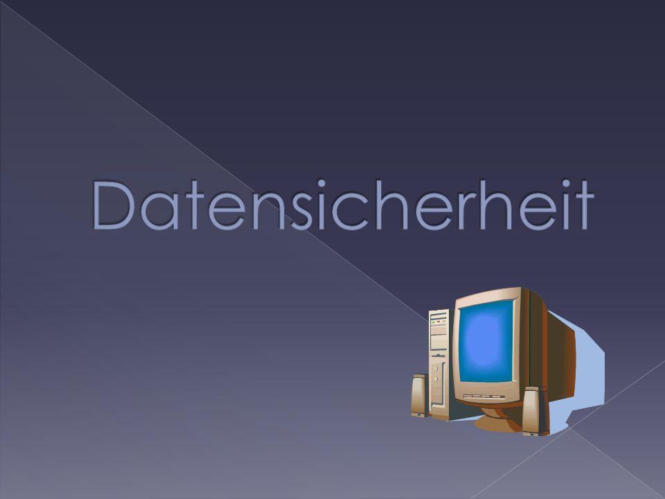 1.Was ist Datensicherheit. - Definition - Aufgaben - Ziele 2.
