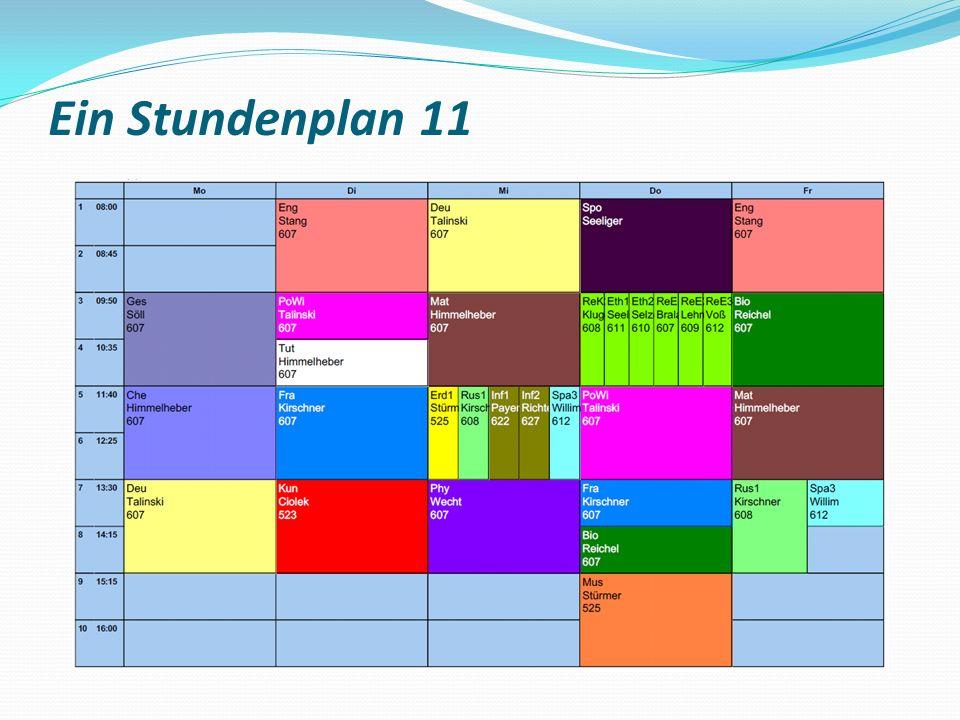 Ein Stundenplan 11