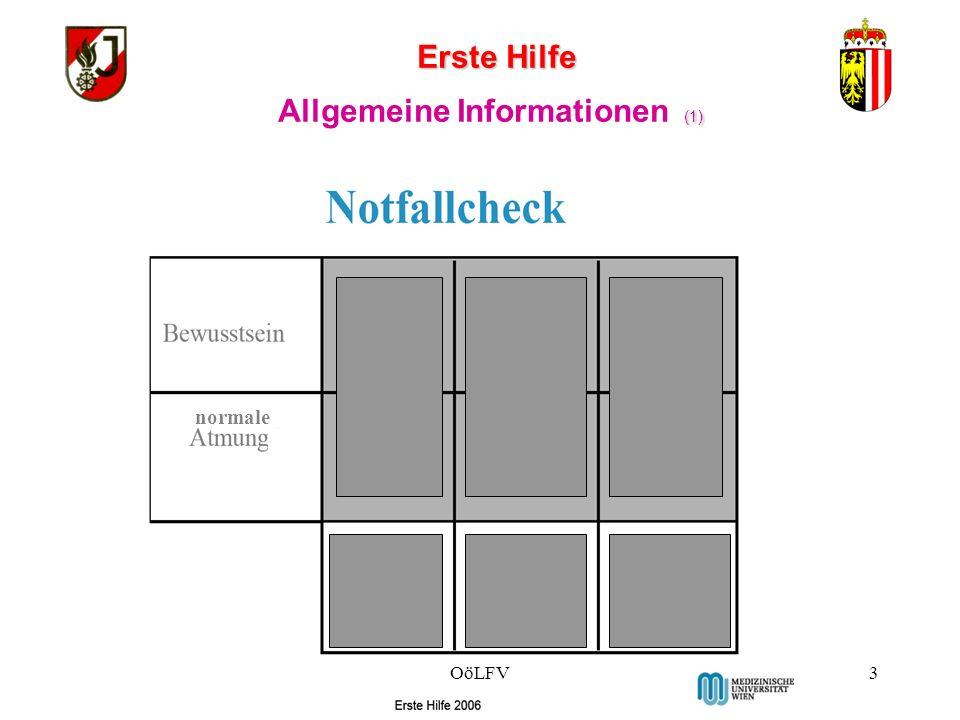 Erste Hilfe (1) Allgemeine Informationen (1) normale OöLFV3