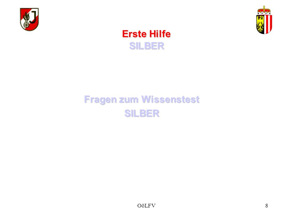 Erste Hilfe SILBER Vorzeigebeispiel 1: Druckverband Wundauflage (fest andrücken) Saugfähiger Druckkörper (z.B.