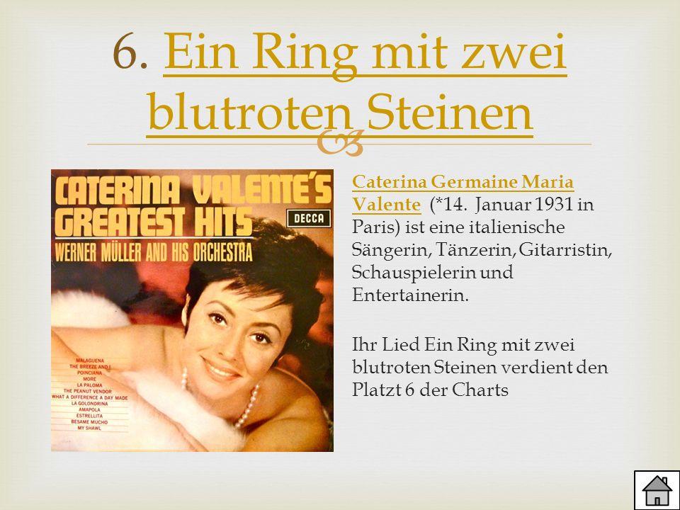 6. Ein Ring mit zwei blutroten SteinenEin Ring mit zwei blutroten Steinen Caterina Germaine Maria Valente Caterina Germaine Maria Valente (*14. Januar