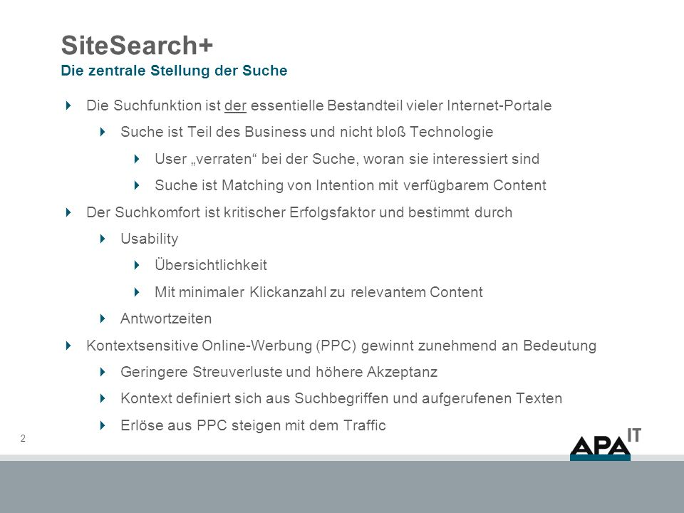 SiteSearch + Live Demonstration 13 Vielen Dank für ihre Aufmerksamkeit.
