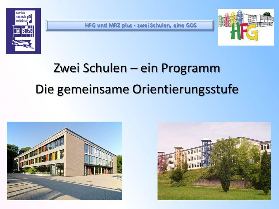 Zwei Schulen – ein Programm Die gemeinsame Orientierungsstufe HFG und MRZ plus - zwei Schulen, eine GOS