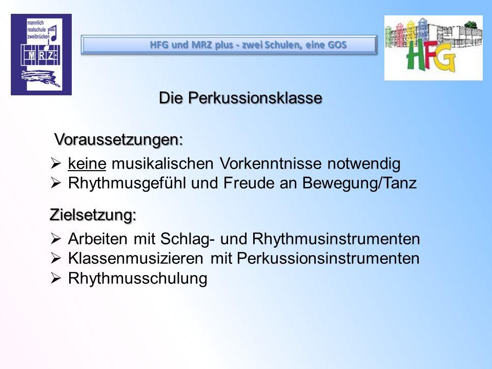Die Perkussionsklasse Voraussetzungen: keine musikalischen Vorkenntnisse notwendig Rhythmusgefühl und Freude an Bewegung/TanzZielsetzung: Arbeiten mit