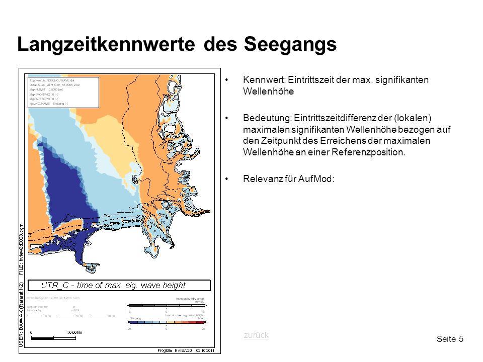 Seite 5 Langzeitkennwerte des Seegangs Kennwert: Eintrittszeit der max.