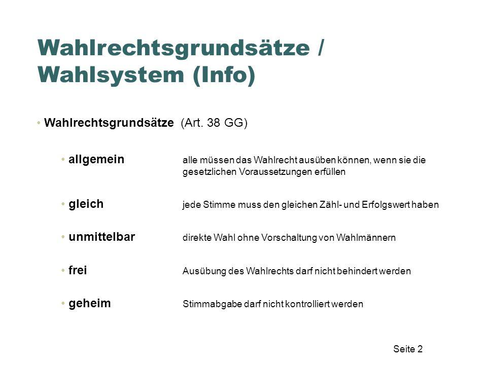 Seite 33 Auszählung der Stimmen – Stapel 2 Erste Sortierung nach Zweitstimmen Auszählung – theoretische Grundlagen Haufen AHaufen B Haufen ohne....