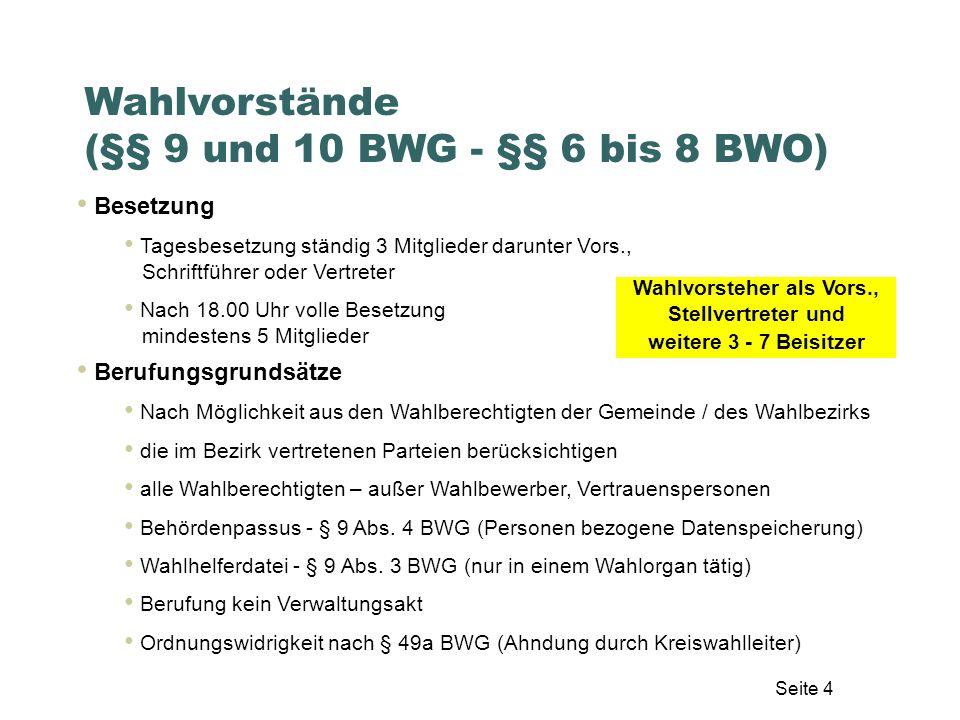 Seite 15 Stimmzettel (§ 30 BWG, § 45 BWO)