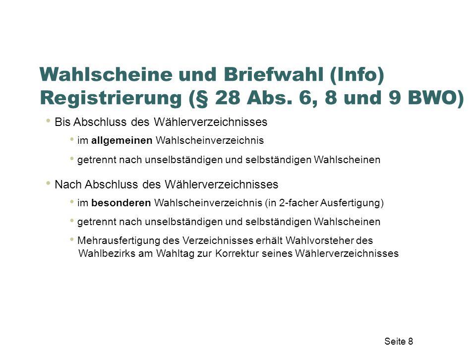 Seite 49 Auszählung – theoretische Grundlagen Kontrollieren 3.