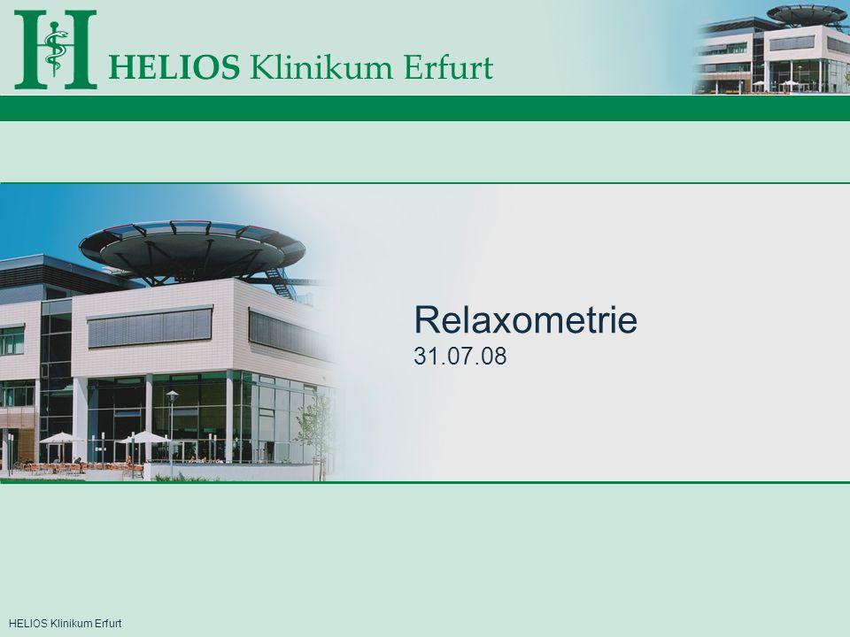 HELIOS Klinikum Erfurt Relaxometrie 31.07.08