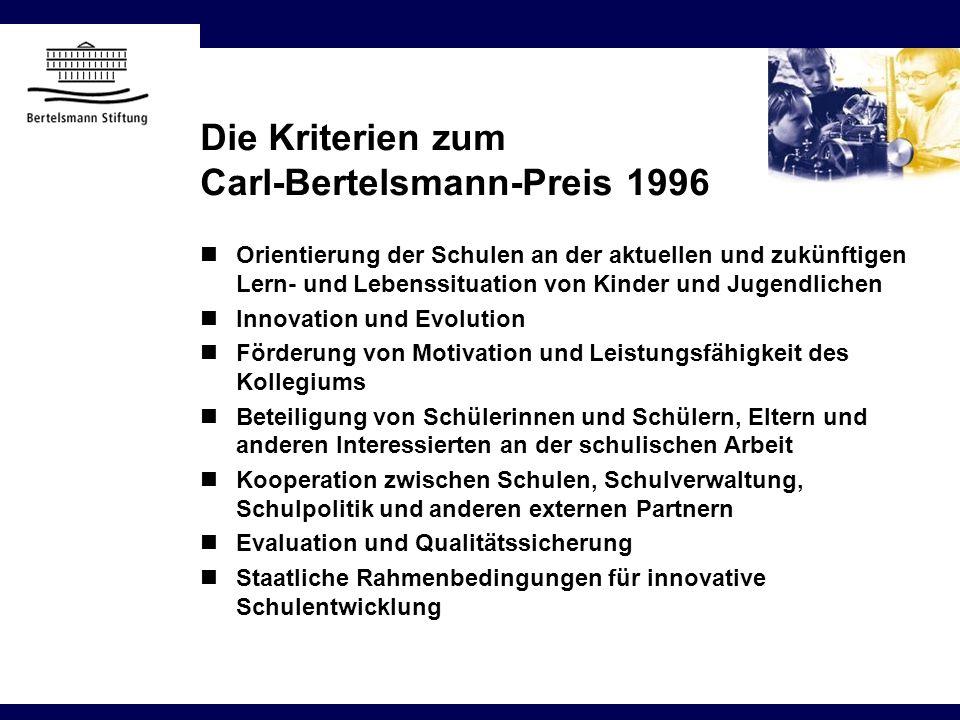 Orientierung der Schulen an der aktuellen und zukünftigen Lern- und Lebenssituation von Kinder und Jugendlichen Innovation und Evolution Förderung von