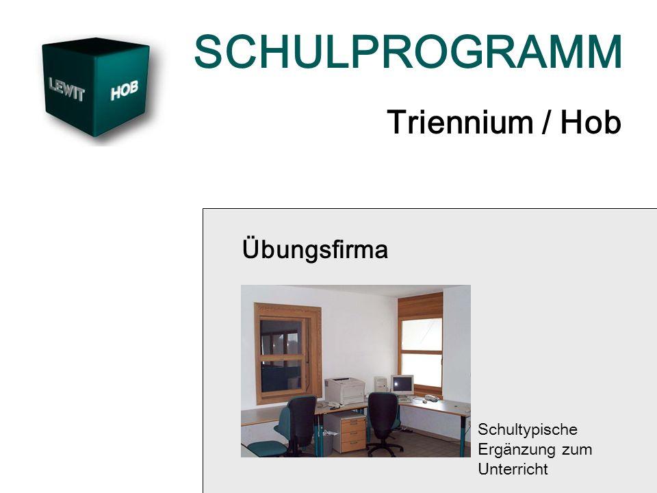 SCHULPROGRAMM Triennium / Hob Übungsfirma Schultypische Ergänzung zum Unterricht