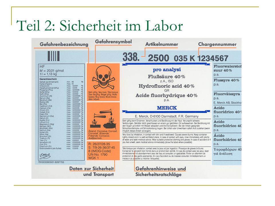 Teil 2: Sicherheit im Labor