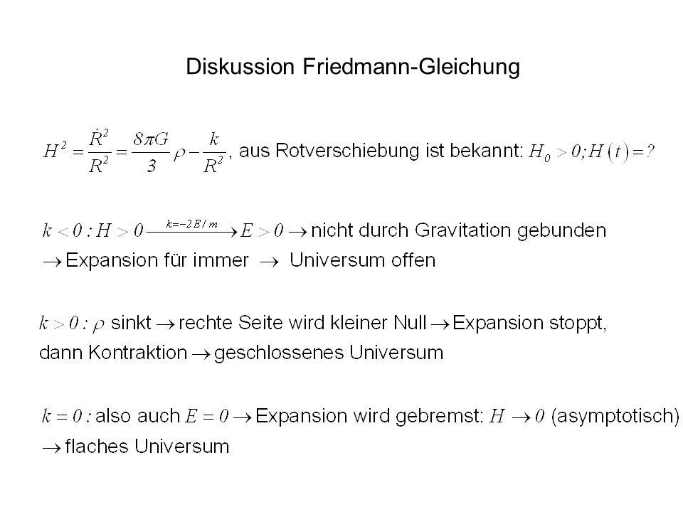 Diskussion Friedmann-Gleichung