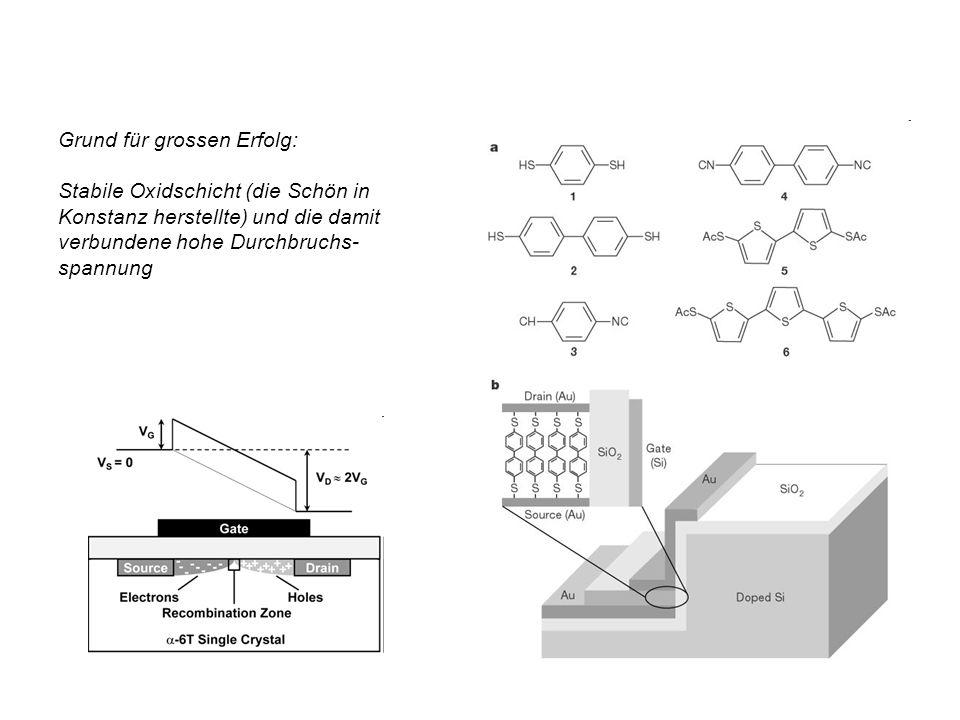 Grund für grossen Erfolg: Stabile Oxidschicht (die Schön in Konstanz herstellte) und die damit verbundene hohe Durchbruchs- spannung