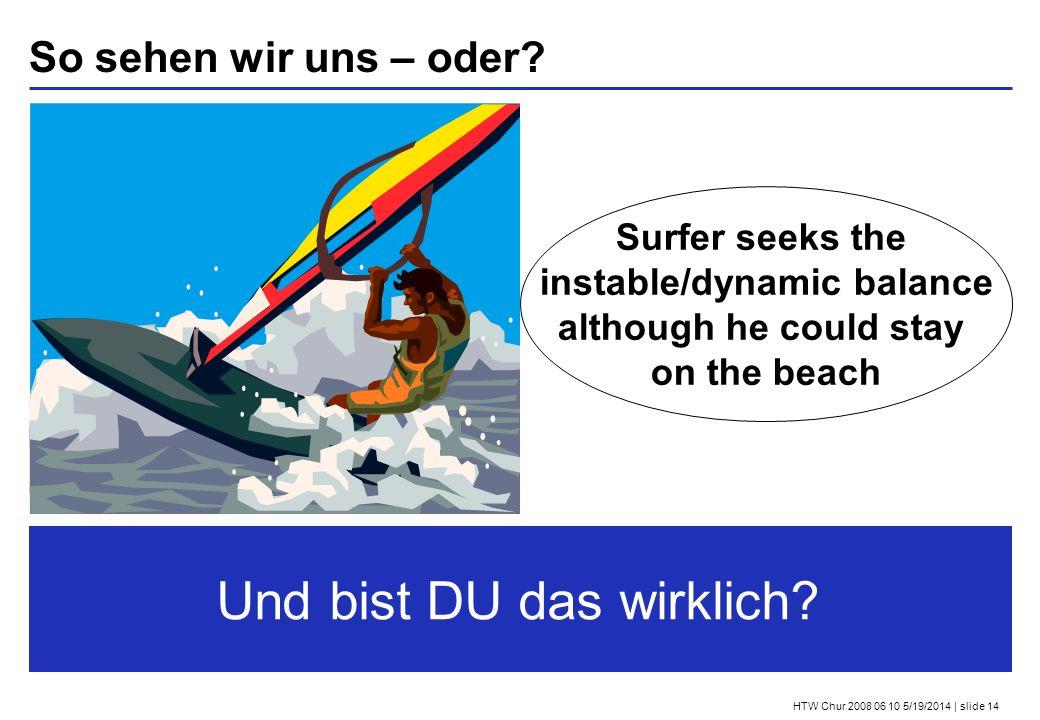 HTW Chur 2008 06 10 5/19/2014 | slide 14 So sehen wir uns – oder.
