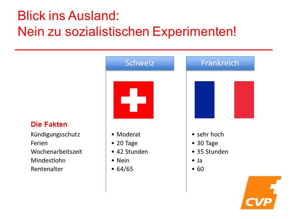 Blick ins Ausland: Nein zu sozialistischen Experimenten! Die Fakten