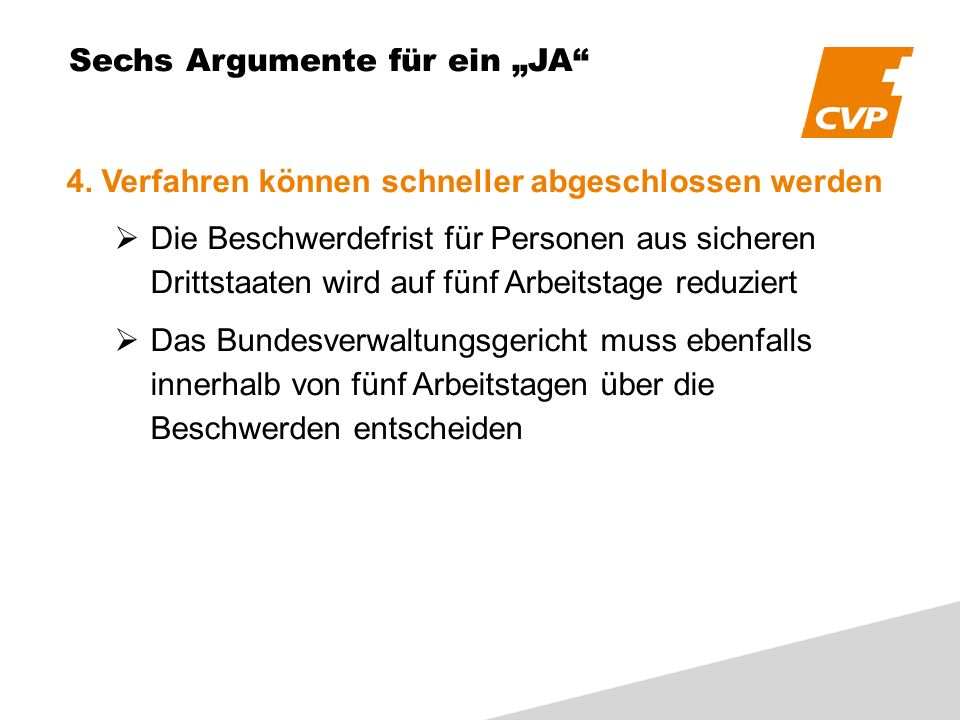 Sechs Argumente für ein JA 4.