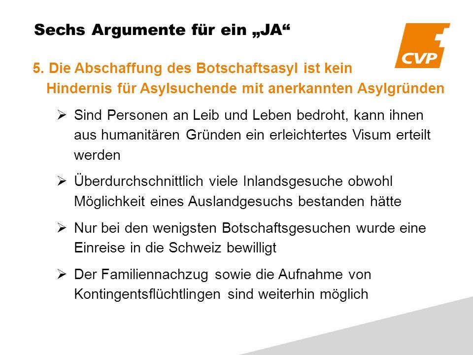 Sechs Argumente für ein JA 5.
