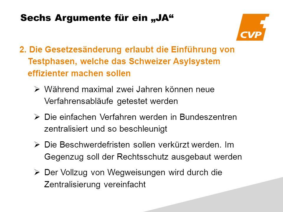 Sechs Argumente für ein JA 2.