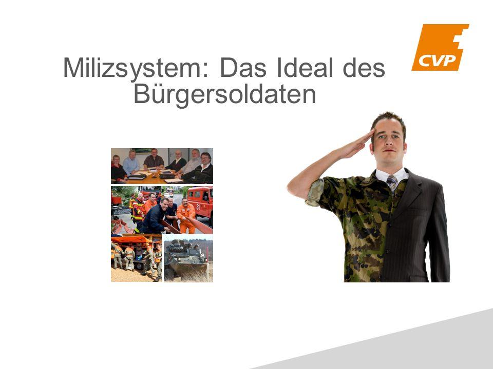 Milizsystem: Das Ideal des Bürgersoldaten