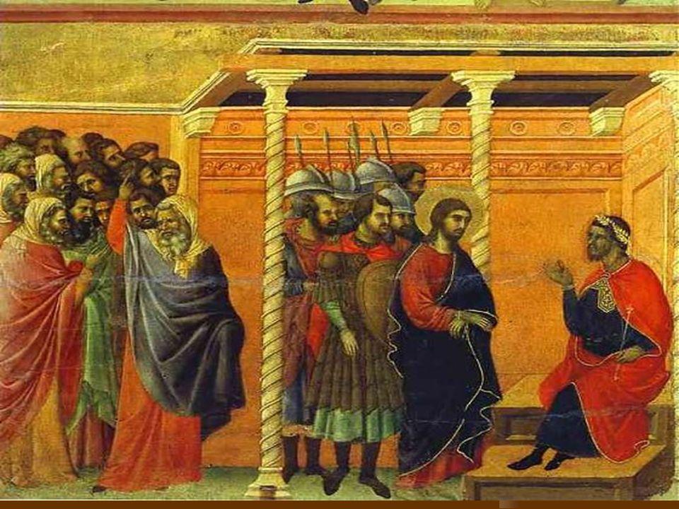 Jesus Christus vor Pilatus Jesus Christus war ungerecht zu die Kreuzigug verurteilt (odsouzen).