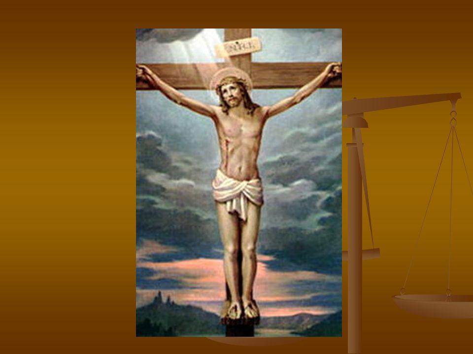 Jesus hat den Leute abgebeten Die Kriegsleute haben Jesus an Kreuz angeschlagen (přibili).