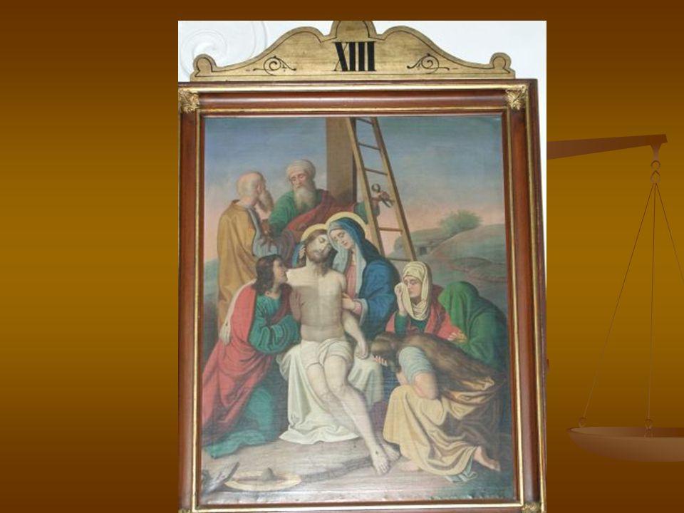 Jesus Christus und seine Mutter Wenn Jesus gestorben ist, sie haben seine Mutter auf Keil (klín) gelegt.