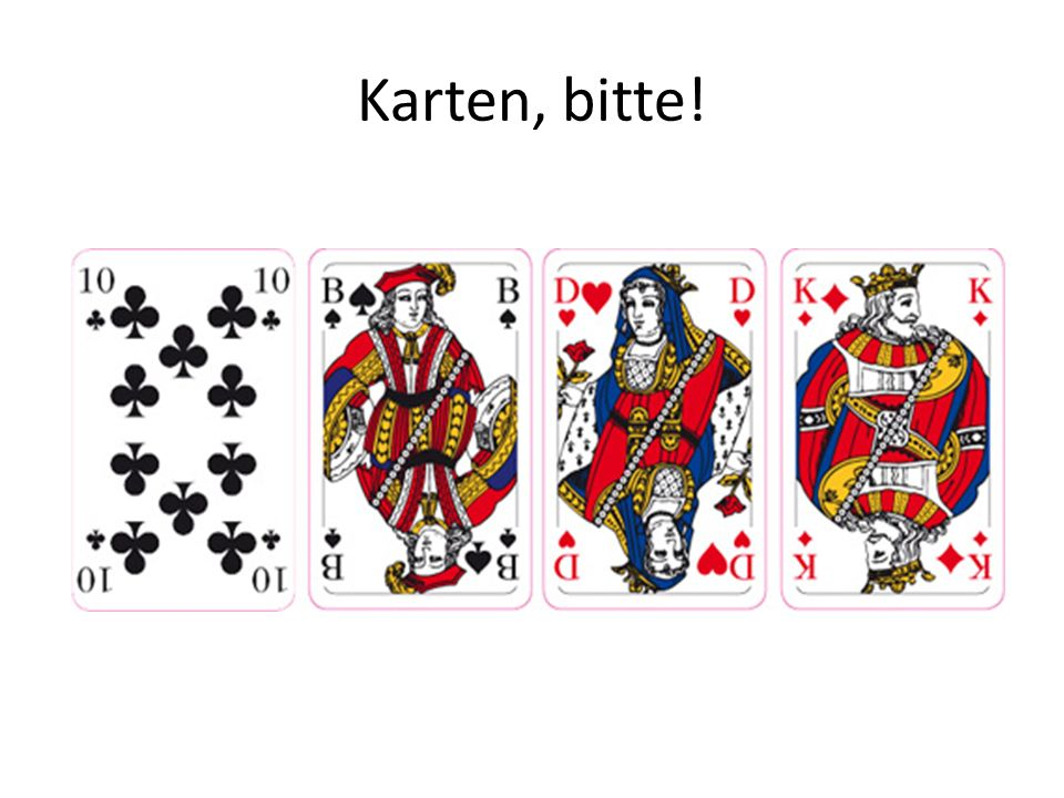 Karten, bitte!