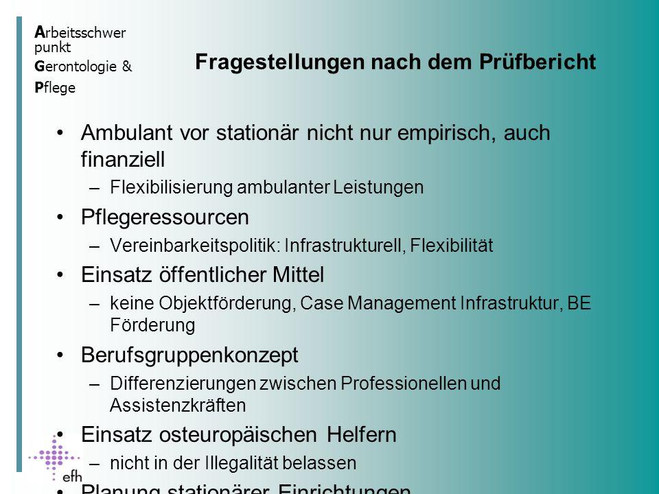 A rbeitsschwer punkt Gerontologie & Pflege Das Planungsdreieck Daten Expertise Partizipation