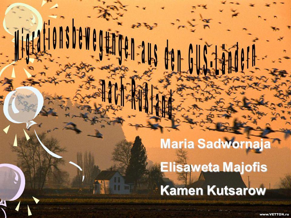 Maria Sadwornaja Elisaweta Majofis Kamen Kutsarow