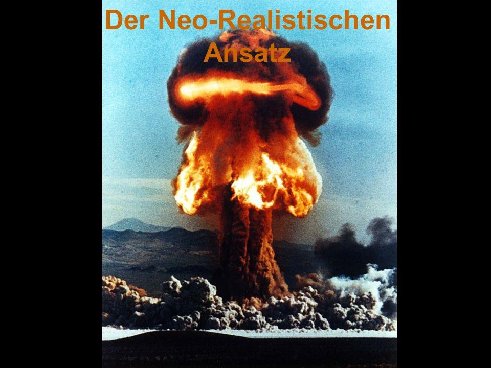 Demokratischer Frieden (Neo-Realisten) Es gab keine Kriege zwischen Demokratien, aber das kein Beweiss ist.