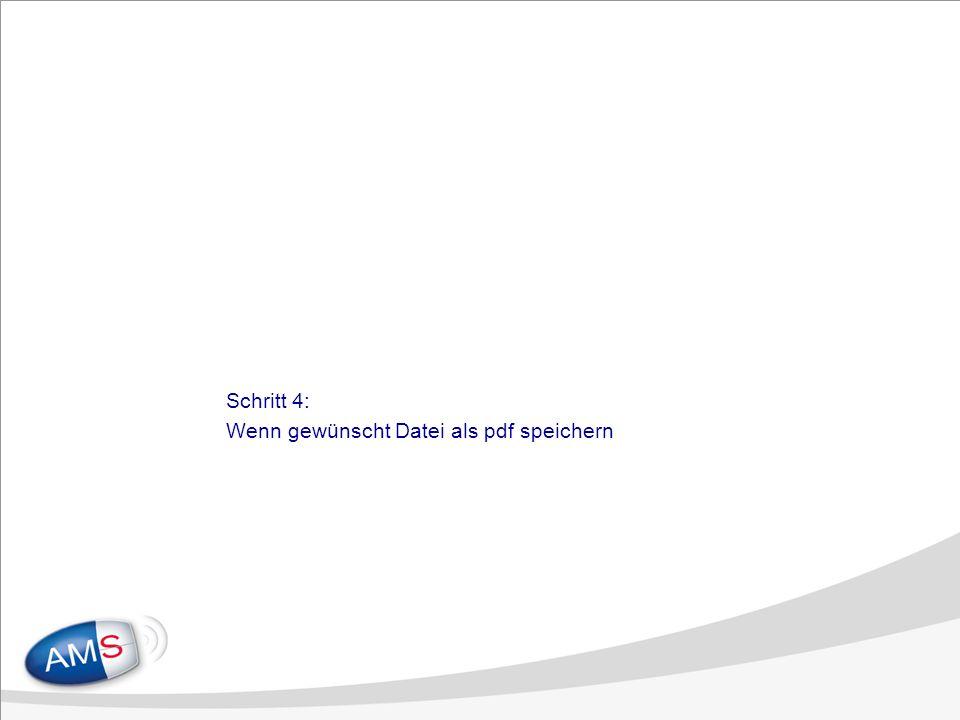 Schritt 4: Wenn gewünscht Datei als pdf speichern