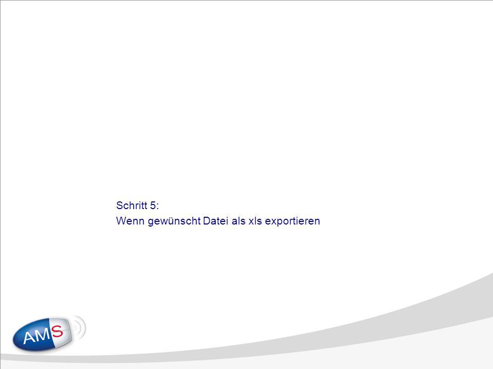 Schritt 5: Wenn gewünscht Datei als xls exportieren